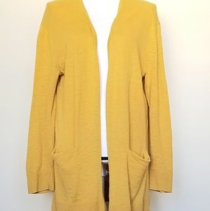 Madewell cardigan Mustard color Size small